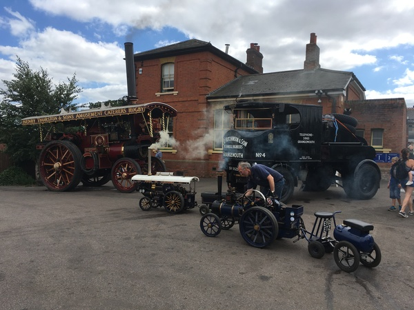 Steam Traction engines at North Weald