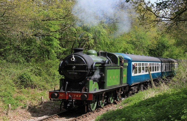 Steam Train on the historic Epping Ongar Railway
