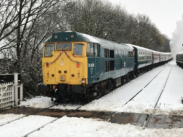 Class 31 on Santa Special Train at North Weald