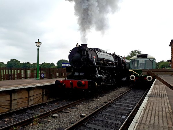 First Steam Hauled Real Ale train departs North Weald