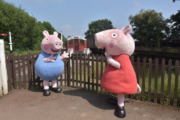 Peppa Pig and George visited in 2018
