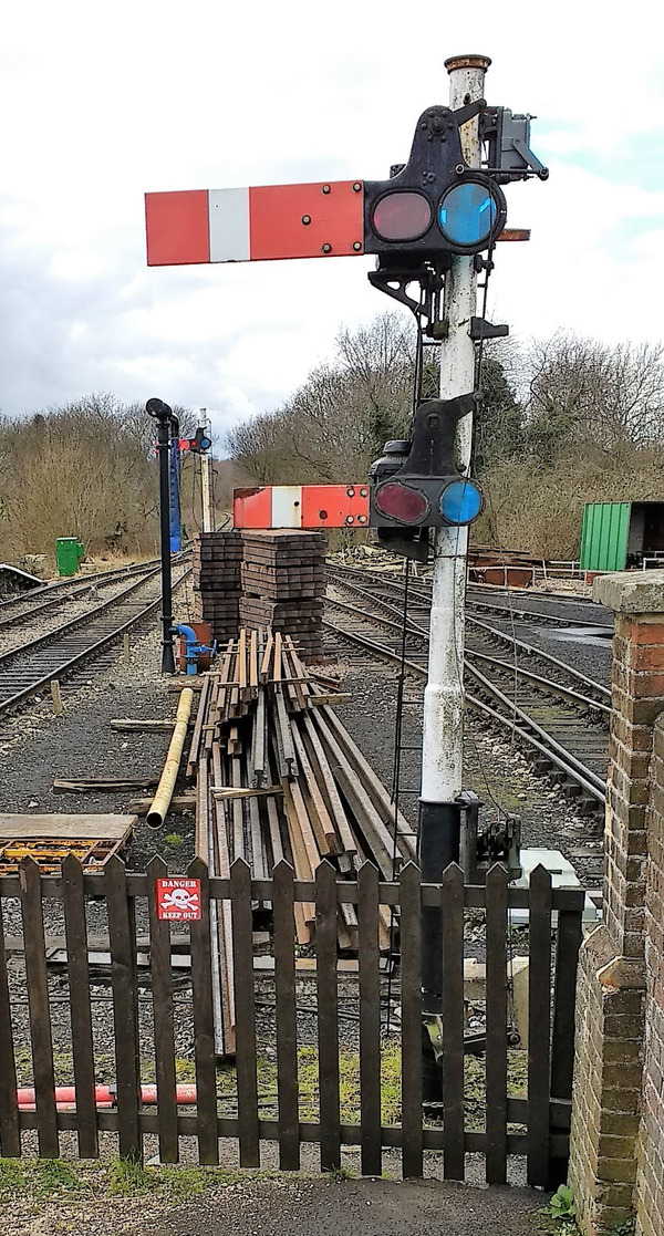 Semaphore Signals recovered from the Bishops Stortford resignalling scheme