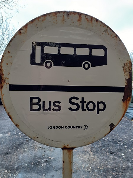 London Country Bus Stop