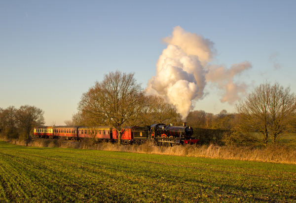 Steam train in the Essex Countryside