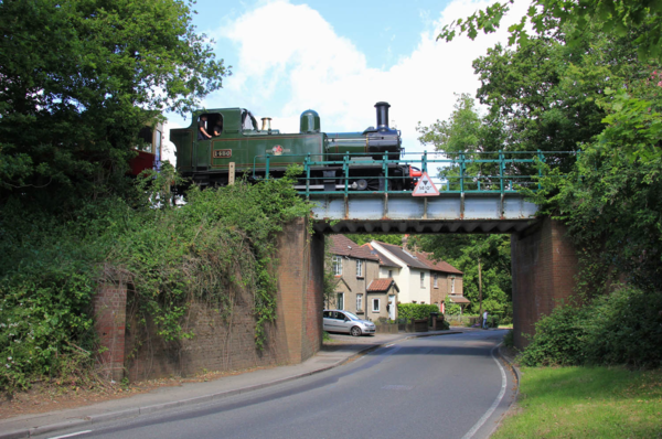 Steam Train crosses Coopersale Bridge