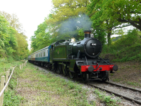 Steam train on the Epping Ongar Railway