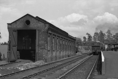 Engine Shed at Ongar, 11/06/1938 (Photographed by H. Casserley)