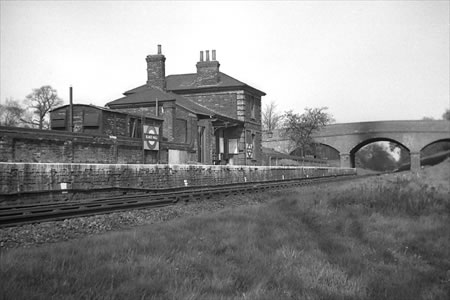 Blake Hall Station, 11/04/1957, (photographed by R Casserley)