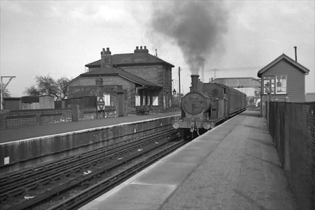 North Weald Station, 11/04/1957, (photographed by R Casserley)