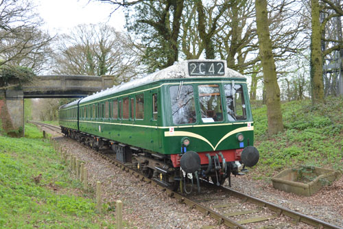 Diesel Multiple Unit between North Weald and Ongar.