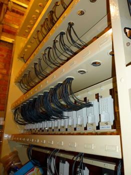 Restored Westinghouse Relay Rack