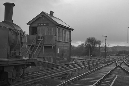 Ongar Signalbox in steam days