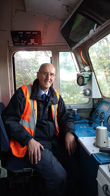 Driver of the last class 50 trip before it left the Railway
