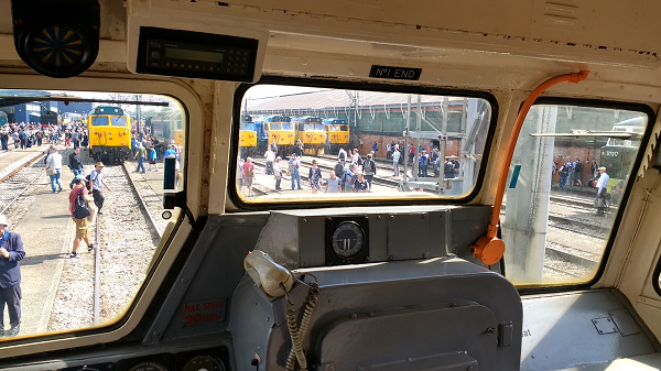 The view from our class 31 at the Old Oak Common Open Day