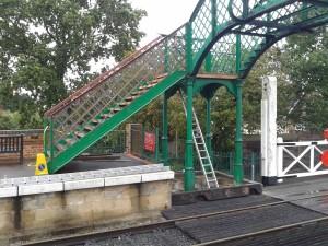 Lattice work on platform 2 side