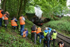 Participants were treated to lineside access for some of the shots.